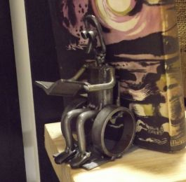 Wheelchair bookend. A wide range of figures is available.: Click Here To View Larger Image